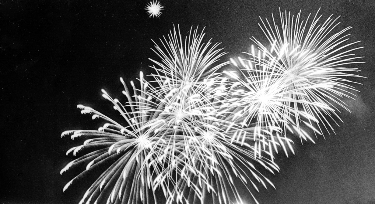 Festival of Freedom fireworks, July 4, 1968
