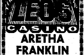 Advertisement in the Plain Dealer for Aretha Franklin's appearance at Leo's Casino, Nov. 17, 1966