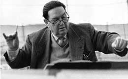 Darius Milhaud conducting