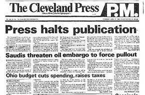 Front page of last issue of the Press, June 17, 1982