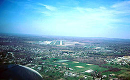 Aerial views, Cleveland area, Cuyahoga County Airport, 1978.