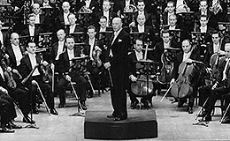George Szell with the Cleveland Orchestra, 1946.